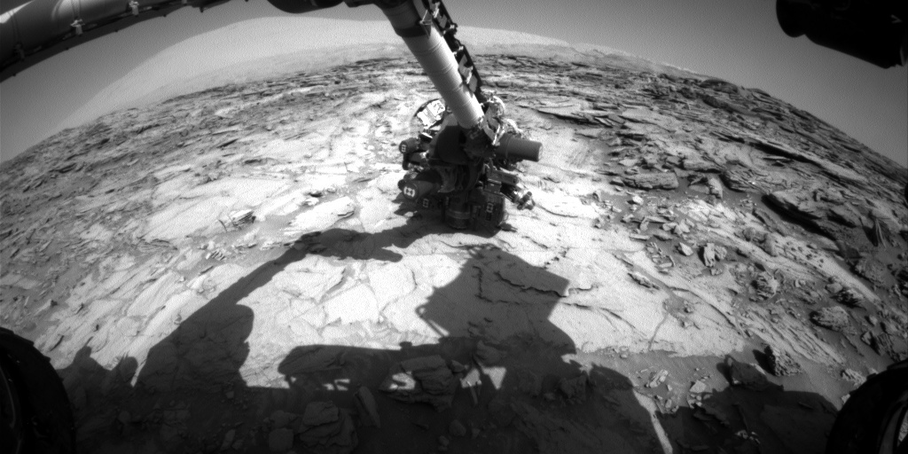 NASA's Mars rover Curiosity acquired this image using its Front Hazard Avoidance Cameras (Front Hazcams) on Sol 1119