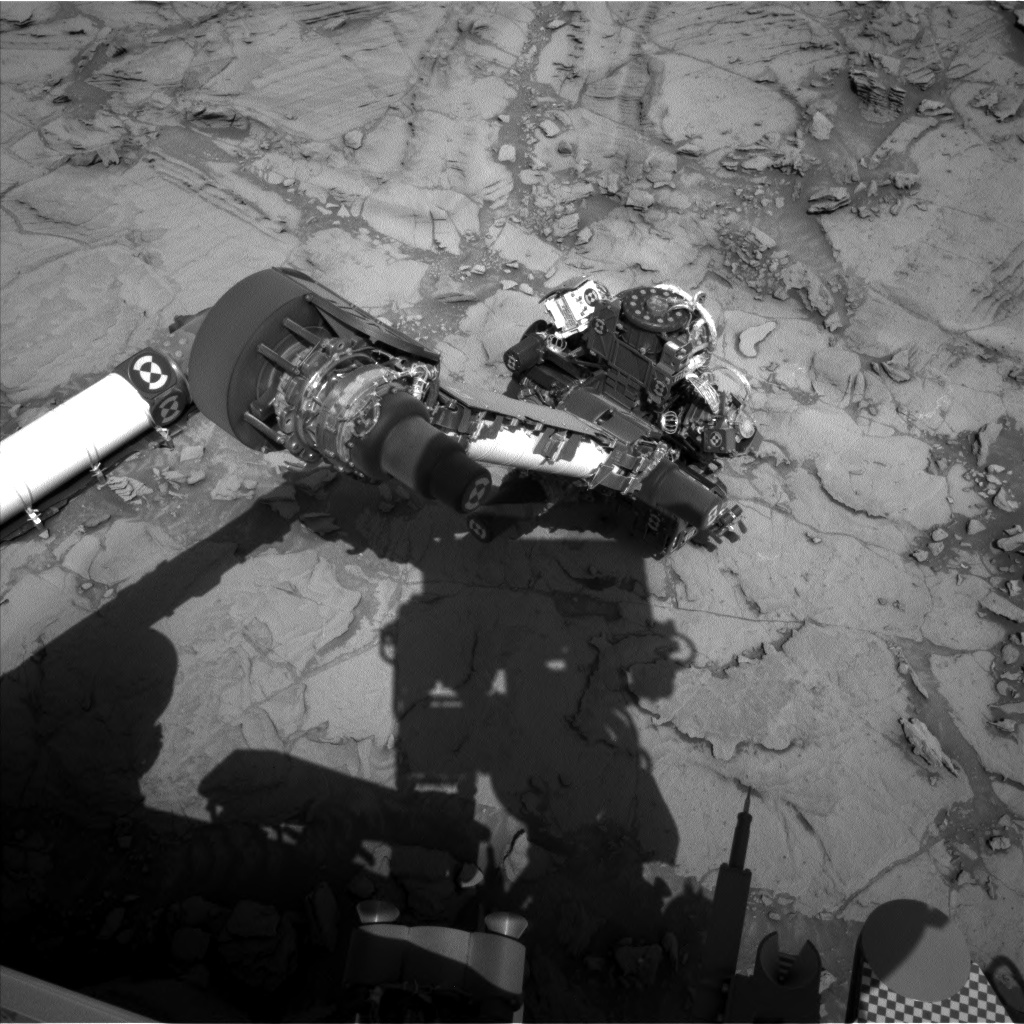 Nasa's Mars rover Curiosity acquired this image using its Left Navigation Camera on Sol 1119, at drive 592, site number 50