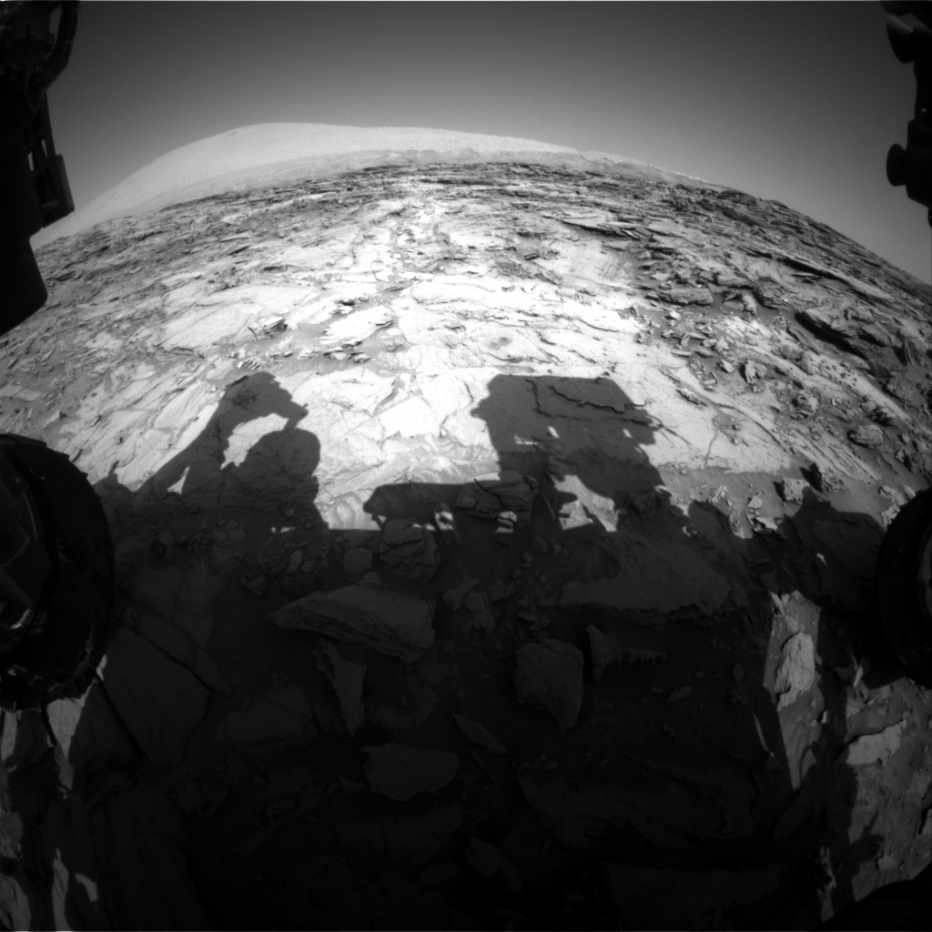NASA's Mars rover Curiosity acquired this image using its Front Hazard Avoidance Cameras (Front Hazcams) on Sol 1120
