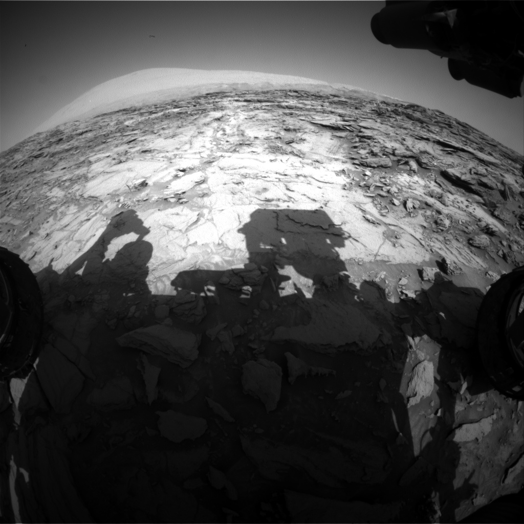 Nasa's Mars rover Curiosity acquired this image using its Front Hazard Avoidance Camera (Front Hazcam) on Sol 1120, at drive 592, site number 50