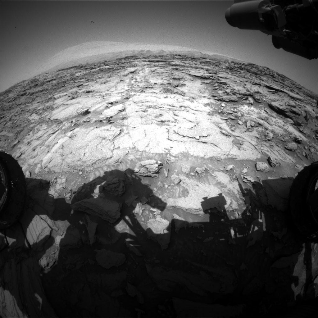 Nasa's Mars rover Curiosity acquired this image using its Front Hazard Avoidance Camera (Front Hazcam) on Sol 1121, at drive 592, site number 50