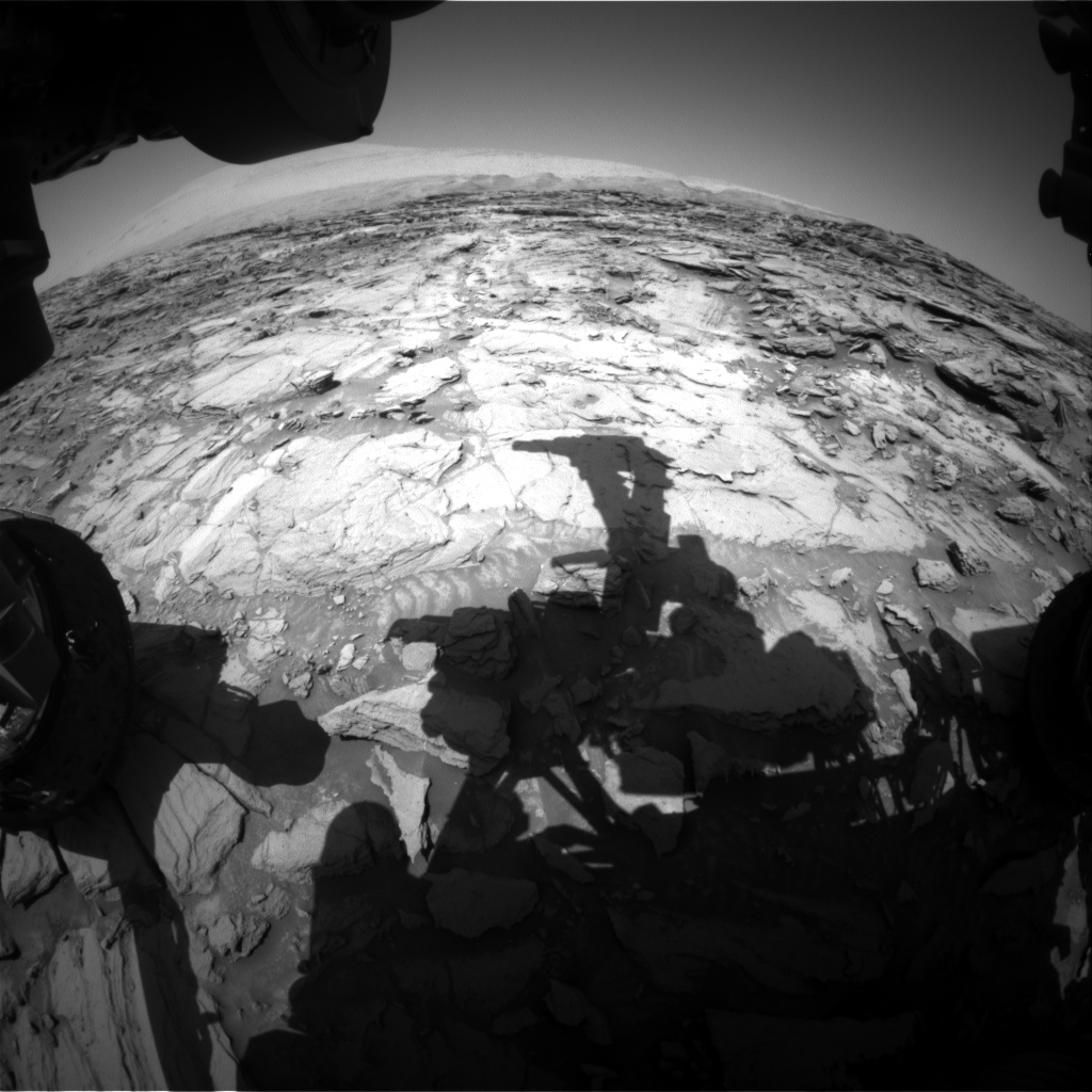 NASA's Mars rover Curiosity acquired this image using its Front Hazard Avoidance Cameras (Front Hazcams) on Sol 1122