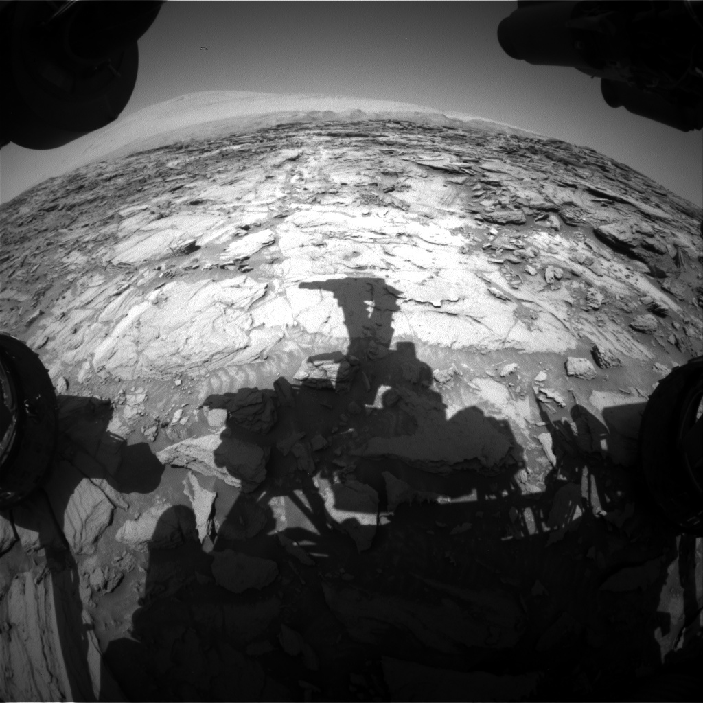 Nasa's Mars rover Curiosity acquired this image using its Front Hazard Avoidance Camera (Front Hazcam) on Sol 1122, at drive 592, site number 50