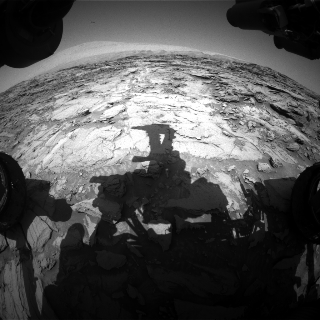 Nasa's Mars rover Curiosity acquired this image using its Front Hazard Avoidance Camera (Front Hazcam) on Sol 1123, at drive 592, site number 50