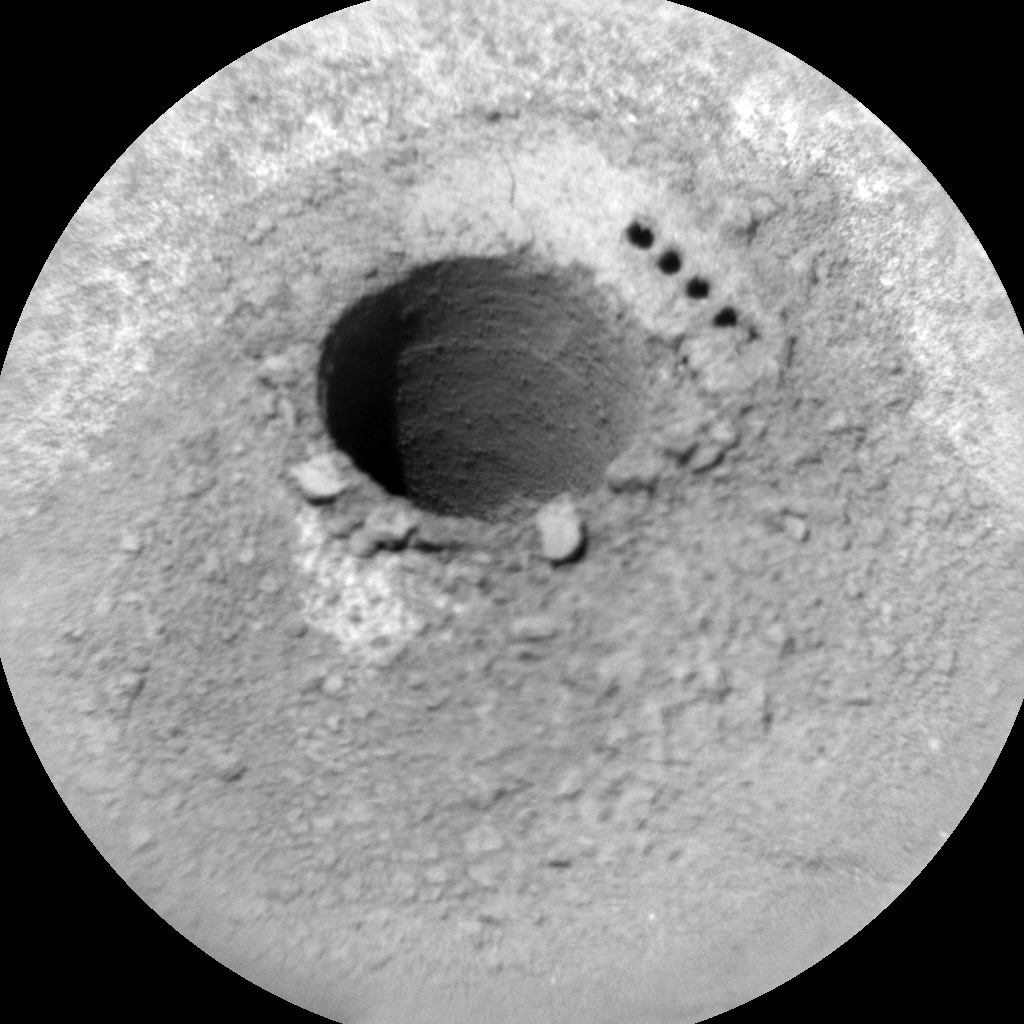 Nasa's Mars rover Curiosity acquired this image using its Chemistry & Camera (ChemCam) on Sol 1123, at drive 592, site number 50