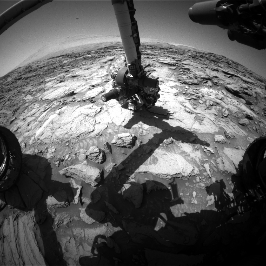 NASA's Mars rover Curiosity acquired this image using its Front Hazard Avoidance Cameras (Front Hazcams) on Sol 1125