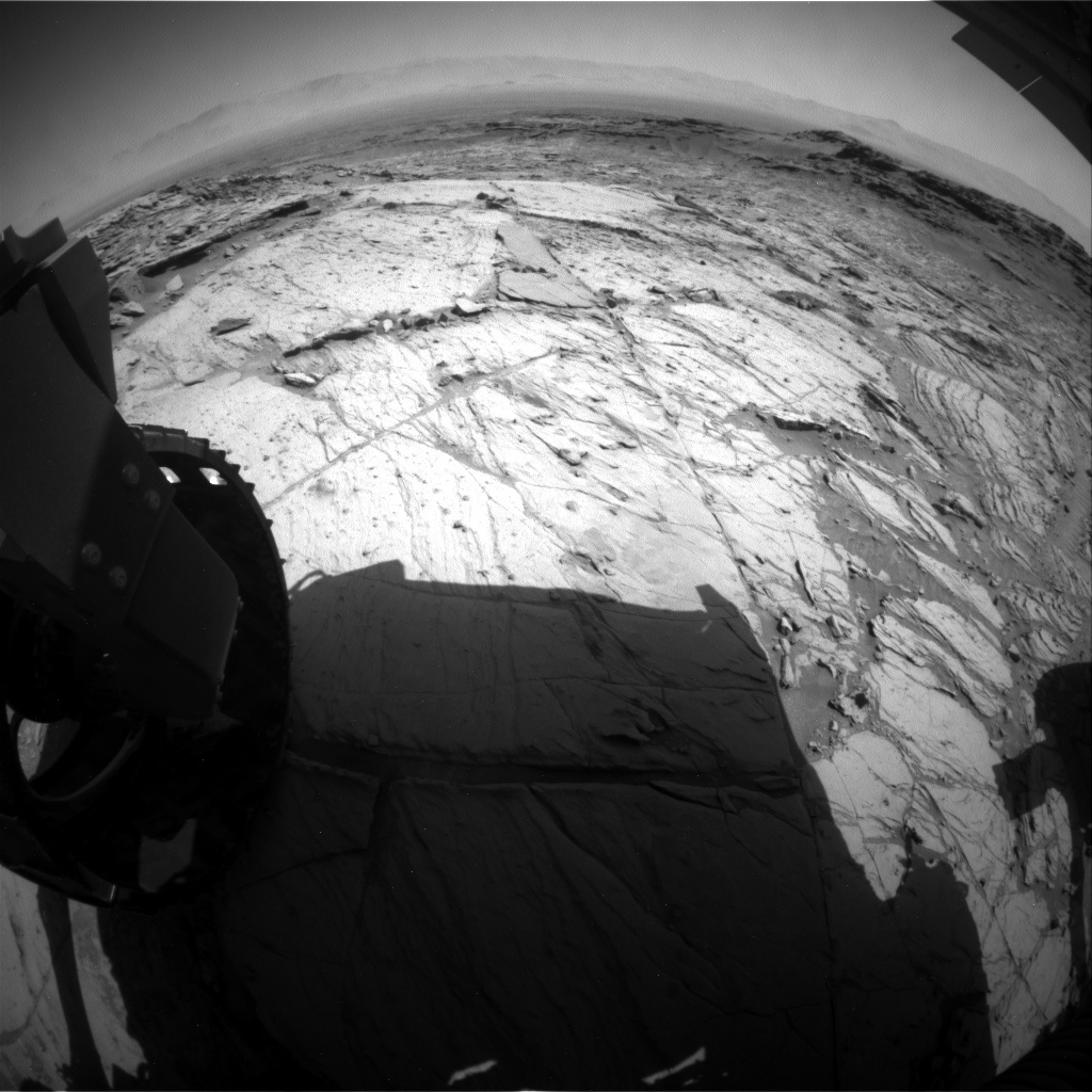 NASA's Mars rover Curiosity acquired this image using its Rear Hazard Avoidance Cameras (Rear Hazcams) on Sol 1125