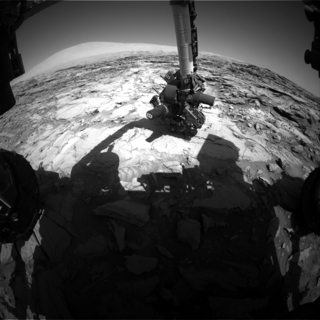 Nasa's Mars rover Curiosity acquired this image using its Front Hazard Avoidance Camera (Front Hazcam) on Sol 1126, at drive 592, site number 50