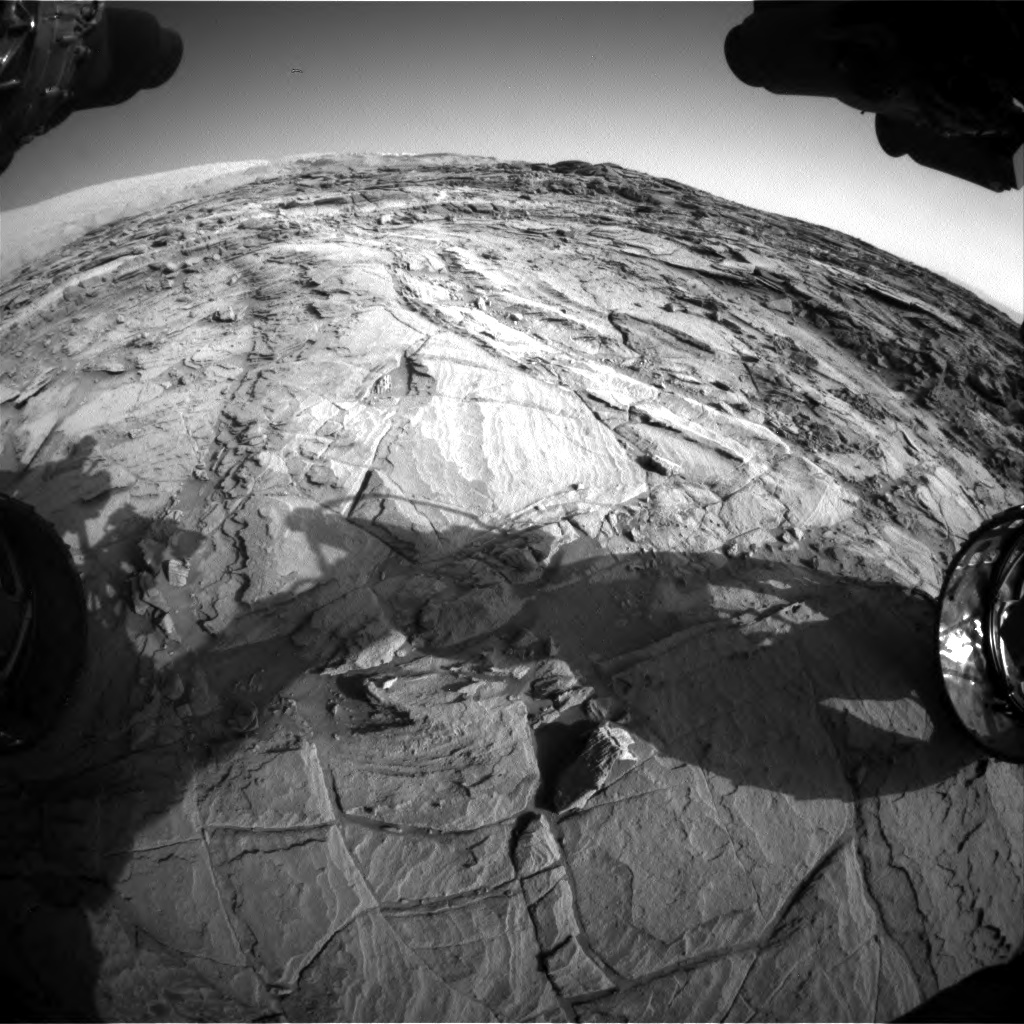 Nasa's Mars rover Curiosity acquired this image using its Front Hazard Avoidance Camera (Front Hazcam) on Sol 1127, at drive 676, site number 50