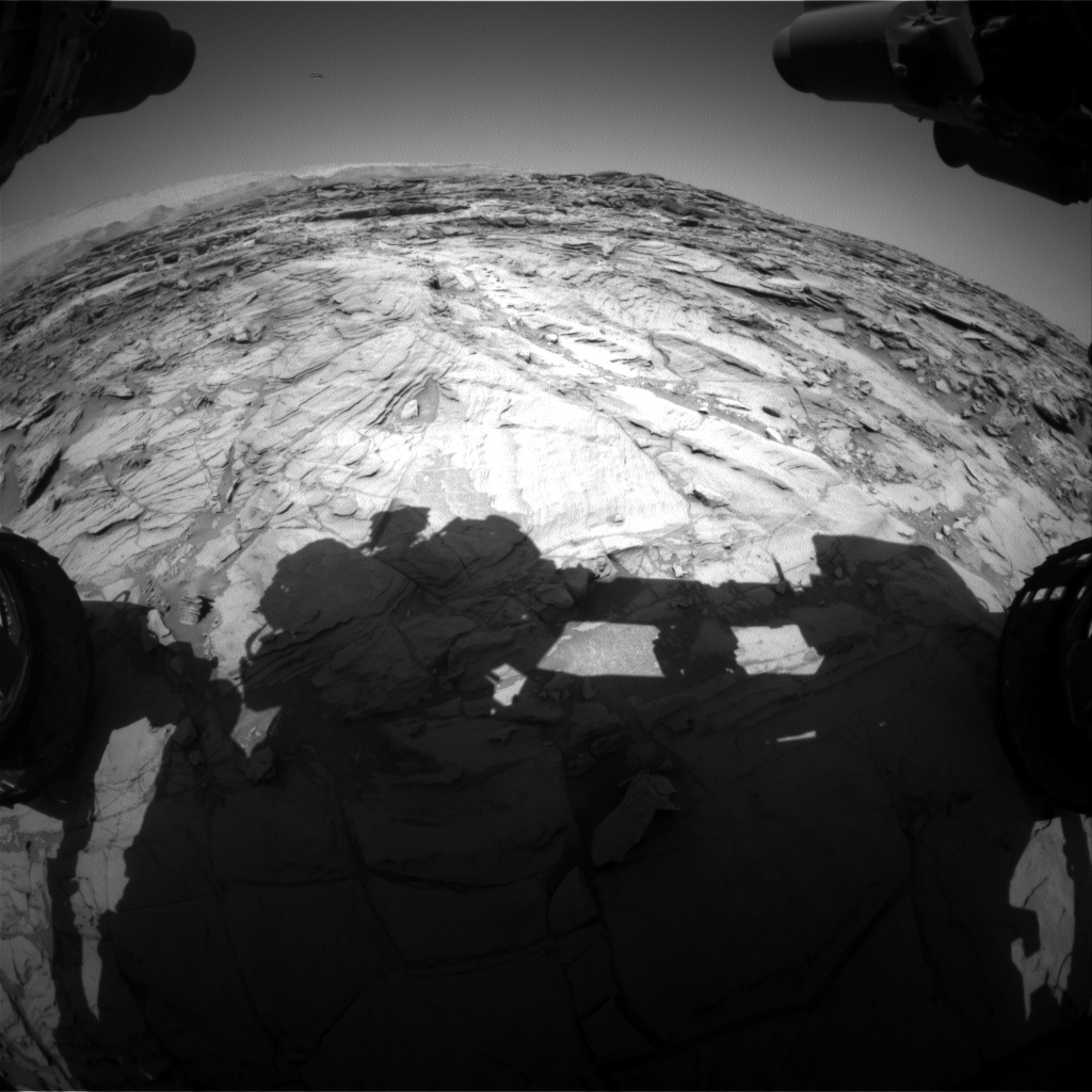 Nasa's Mars rover Curiosity acquired this image using its Front Hazard Avoidance Camera (Front Hazcam) on Sol 1128, at drive 676, site number 50