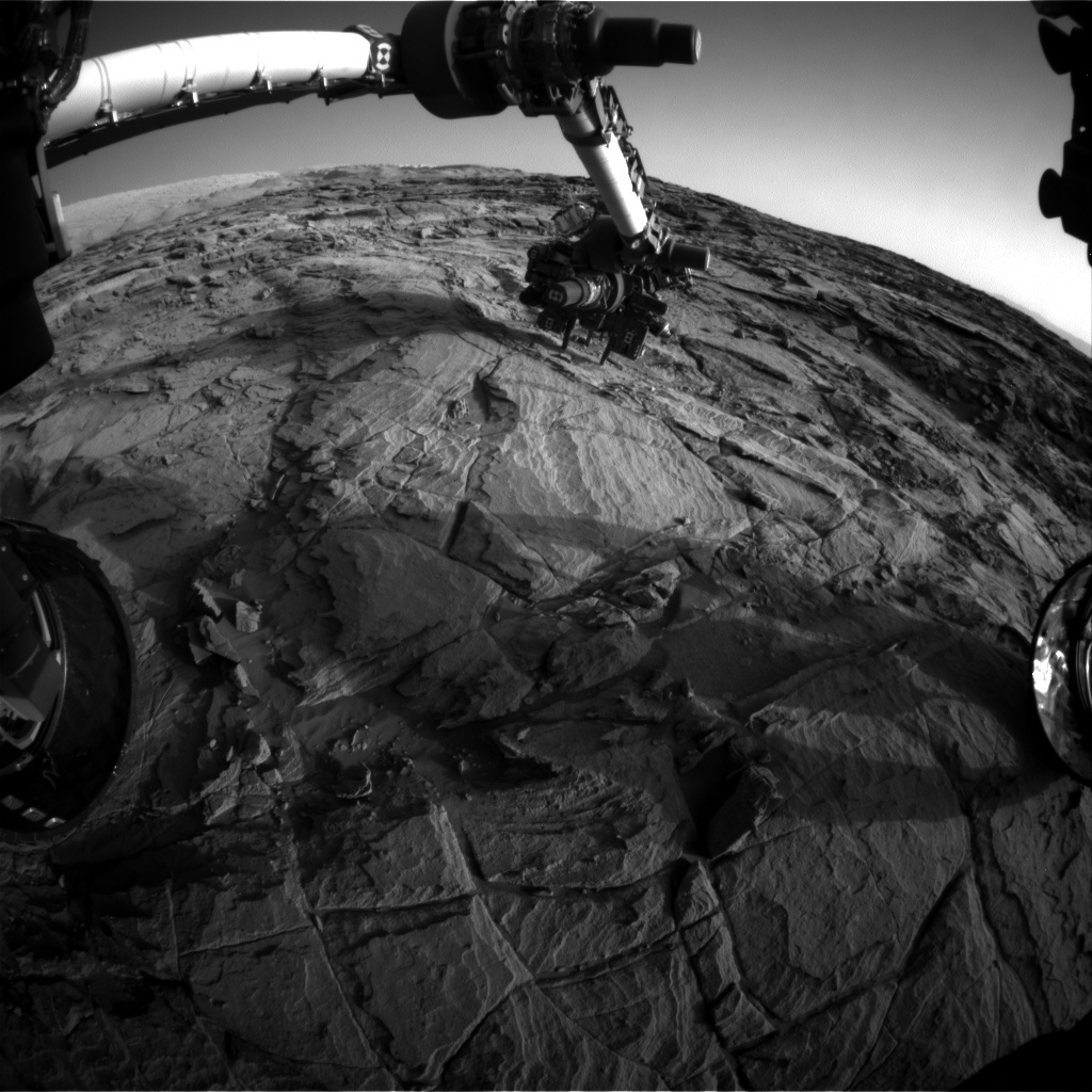 NASA's Mars rover Curiosity acquired this image using its Front Hazard Avoidance Cameras (Front Hazcams) on Sol 1130
