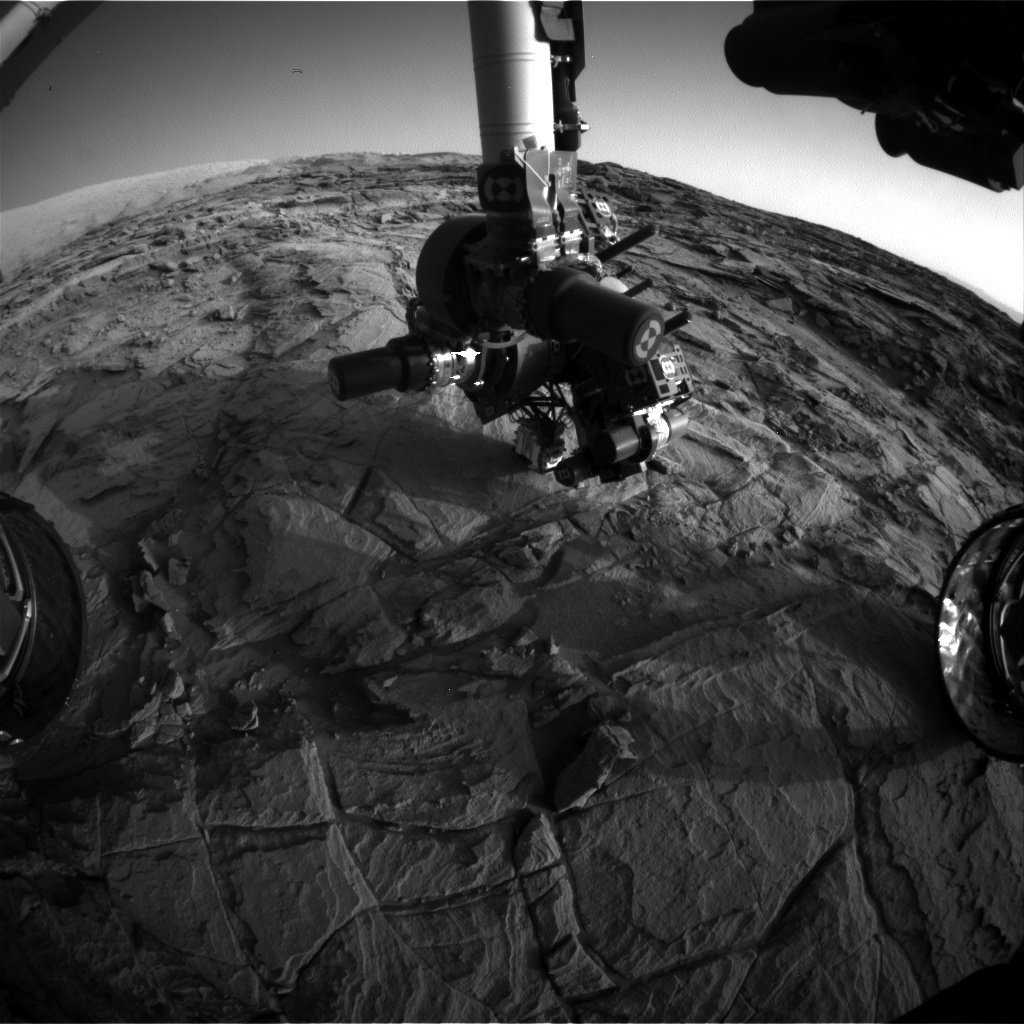 NASA's Mars rover Curiosity acquired this image using its Front Hazard Avoidance Cameras (Front Hazcams) on Sol 1132