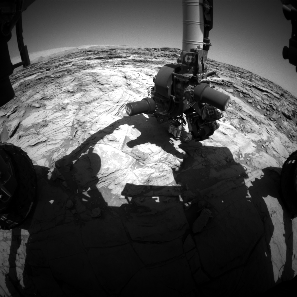 Nasa's Mars rover Curiosity acquired this image using its Front Hazard Avoidance Camera (Front Hazcam) on Sol 1133, at drive 676, site number 50