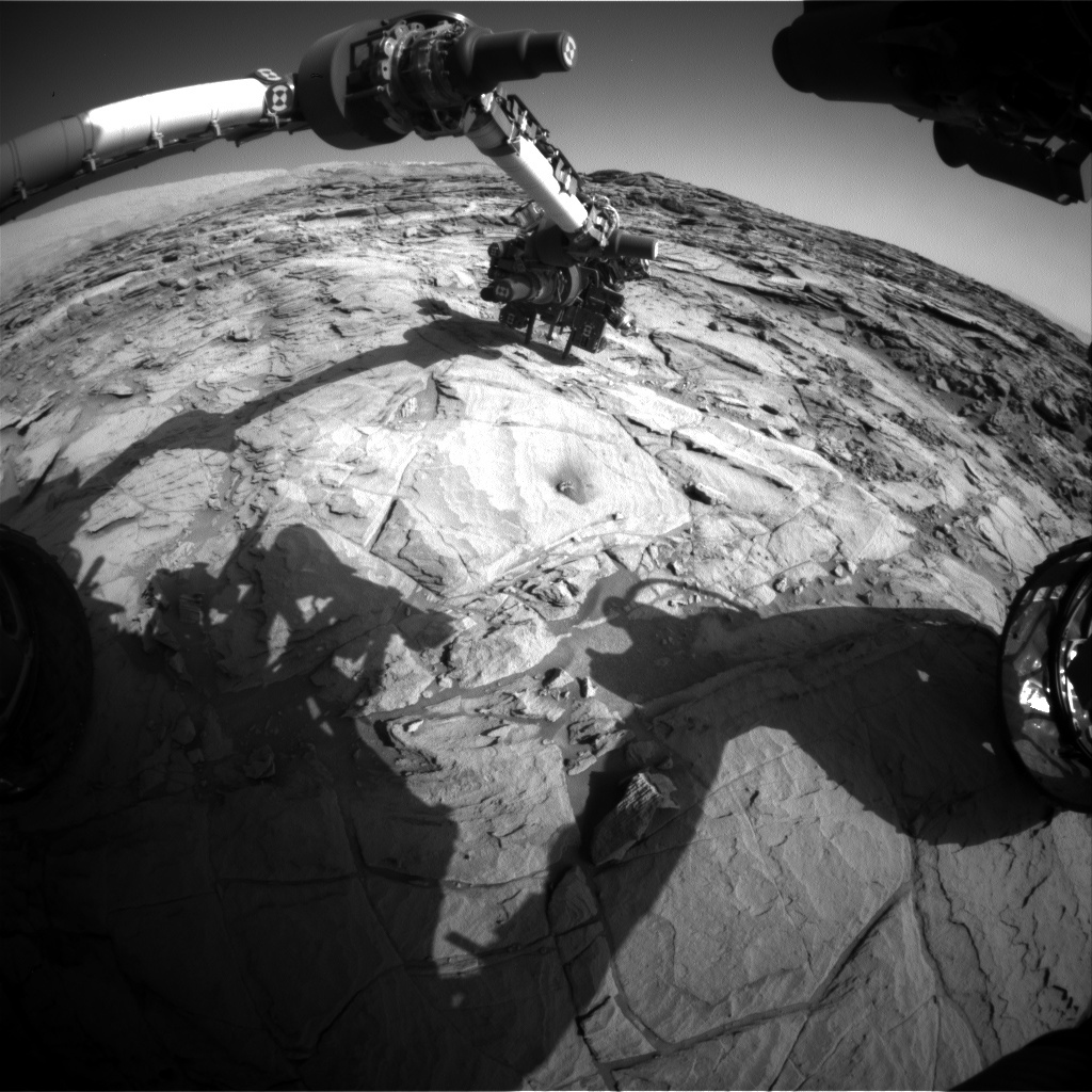 NASA's Mars rover Curiosity acquired this image using its Front Hazard Avoidance Cameras (Front Hazcams) on Sol 1134
