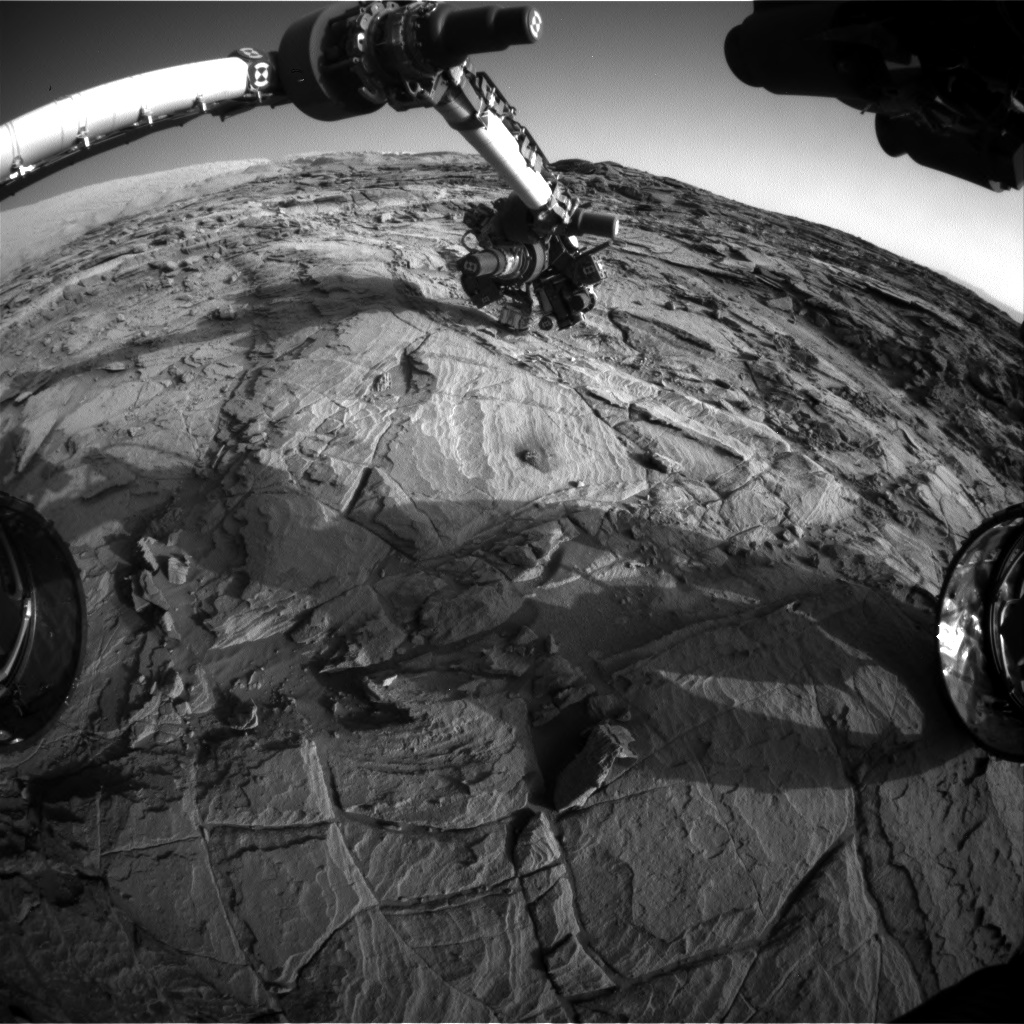 Nasa's Mars rover Curiosity acquired this image using its Front Hazard Avoidance Camera (Front Hazcam) on Sol 1134, at drive 676, site number 50