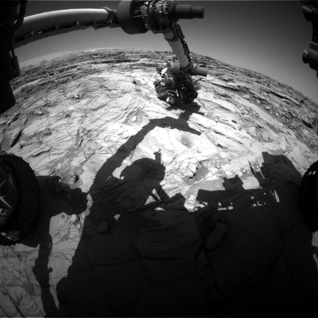 Nasa's Mars rover Curiosity acquired this image using its Front Hazard Avoidance Camera (Front Hazcam) on Sol 1136, at drive 676, site number 50
