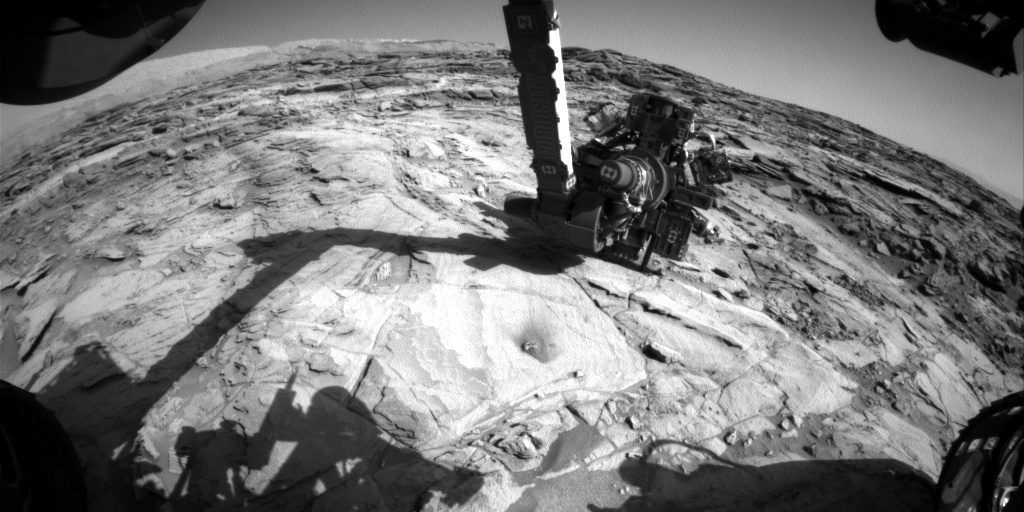 NASA's Mars rover Curiosity acquired this image using its Front Hazard Avoidance Cameras (Front Hazcams) on Sol 1137