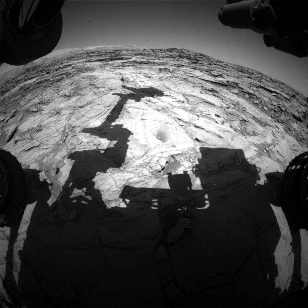 Nasa's Mars rover Curiosity acquired this image using its Front Hazard Avoidance Camera (Front Hazcam) on Sol 1138, at drive 676, site number 50