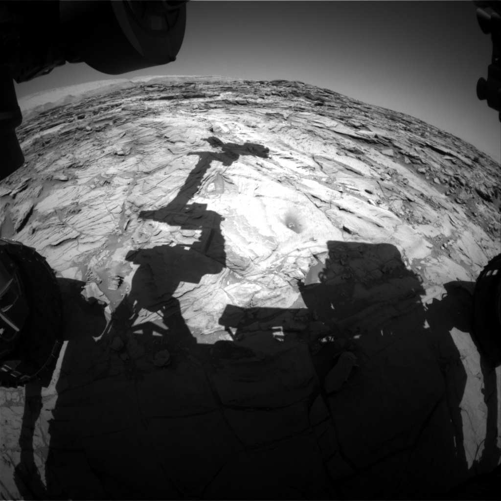 Nasa's Mars rover Curiosity acquired this image using its Front Hazard Avoidance Camera (Front Hazcam) on Sol 1139, at drive 676, site number 50