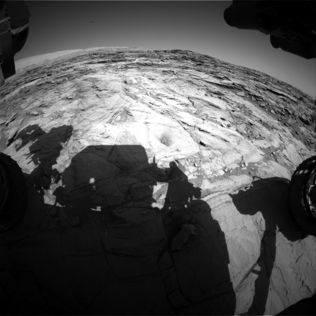 Nasa's Mars rover Curiosity acquired this image using its Front Hazard Avoidance Camera (Front Hazcam) on Sol 1140, at drive 676, site number 50