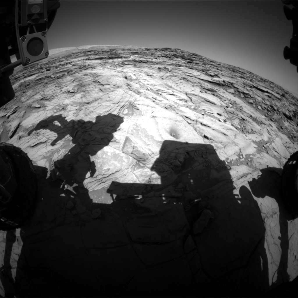 Nasa's Mars rover Curiosity acquired this image using its Front Hazard Avoidance Camera (Front Hazcam) on Sol 1141, at drive 676, site number 50
