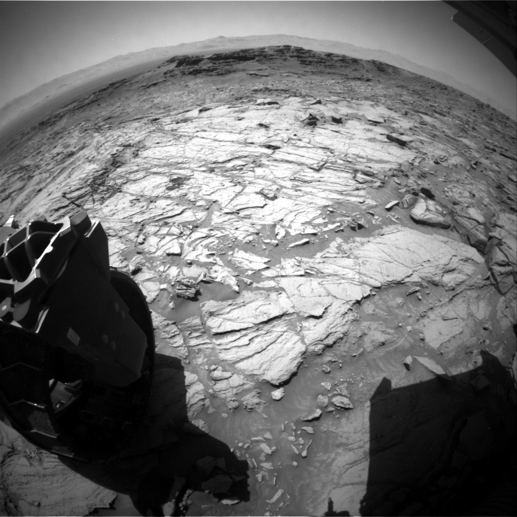 NASA's Mars rover Curiosity acquired this image using its Rear Hazard Avoidance Cameras (Rear Hazcams) on Sol 1141