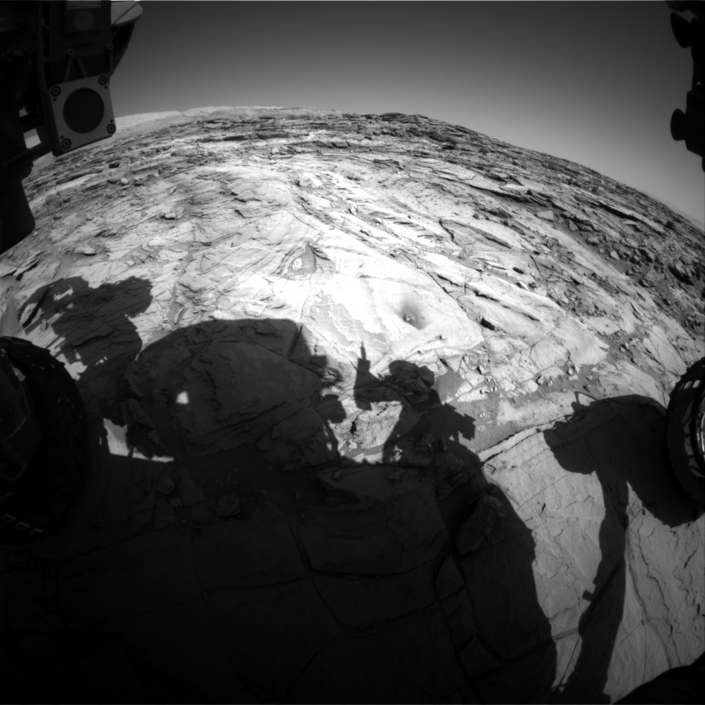 Nasa's Mars rover Curiosity acquired this image using its Front Hazard Avoidance Camera (Front Hazcam) on Sol 1142, at drive 676, site number 50