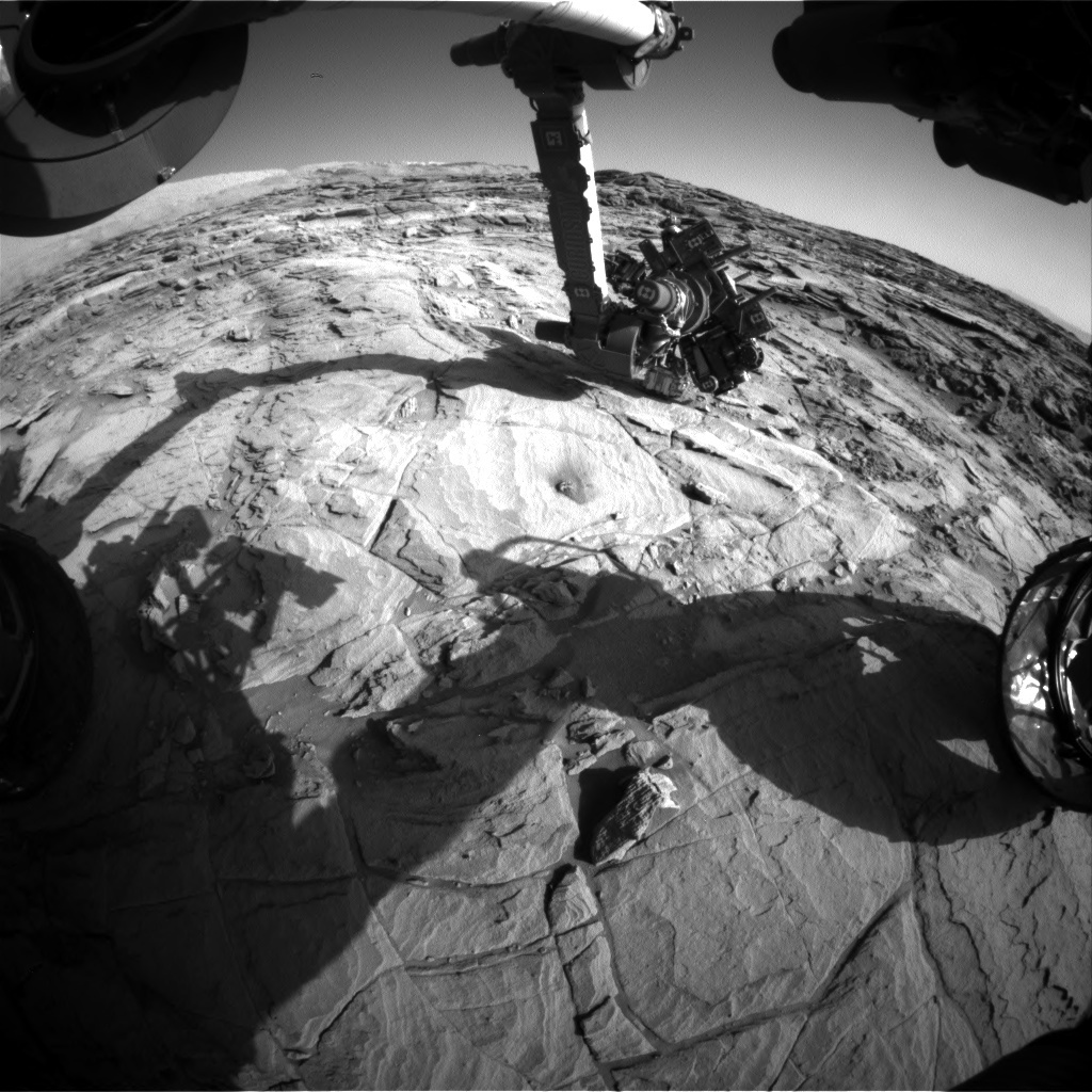 NASA's Mars rover Curiosity acquired this image using its Front Hazard Avoidance Cameras (Front Hazcams) on Sol 1143