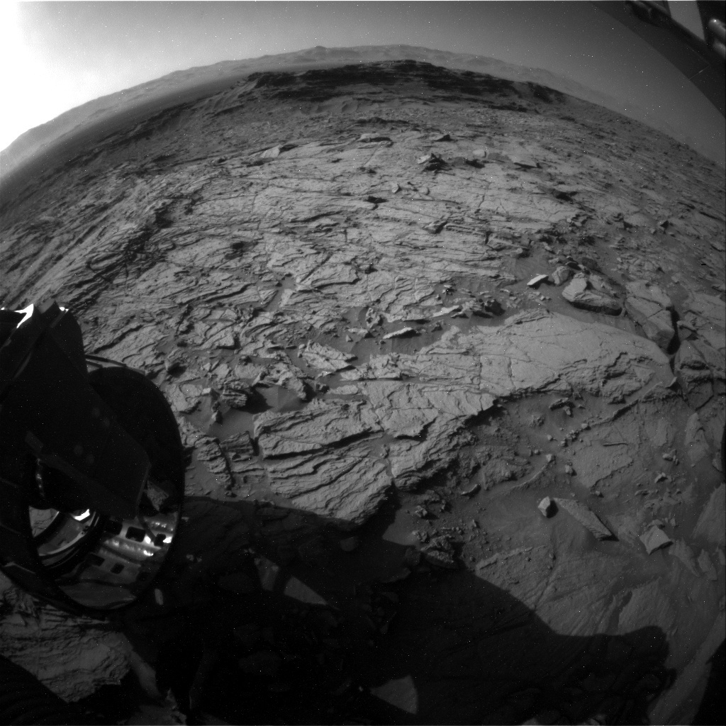 NASA's Mars rover Curiosity acquired this image using its Rear Hazard Avoidance Cameras (Rear Hazcams) on Sol 1143