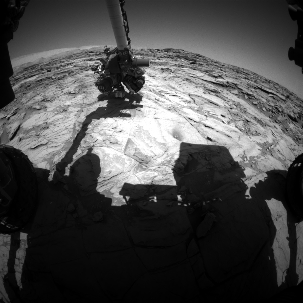 NASA's Mars rover Curiosity acquired this image using its Front Hazard Avoidance Cameras (Front Hazcams) on Sol 1144