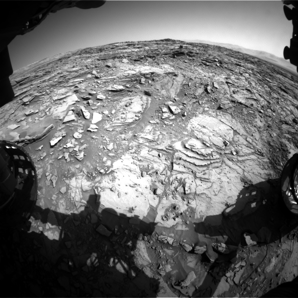 Nasa's Mars rover Curiosity acquired this image using its Front Hazard Avoidance Camera (Front Hazcam) on Sol 1144, at drive 848, site number 50