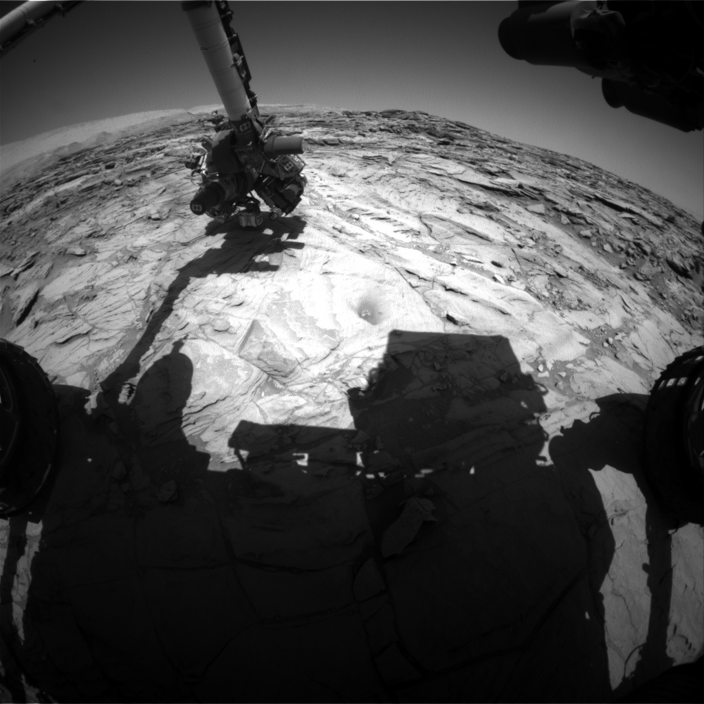 Nasa's Mars rover Curiosity acquired this image using its Front Hazard Avoidance Camera (Front Hazcam) on Sol 1144, at drive 676, site number 50