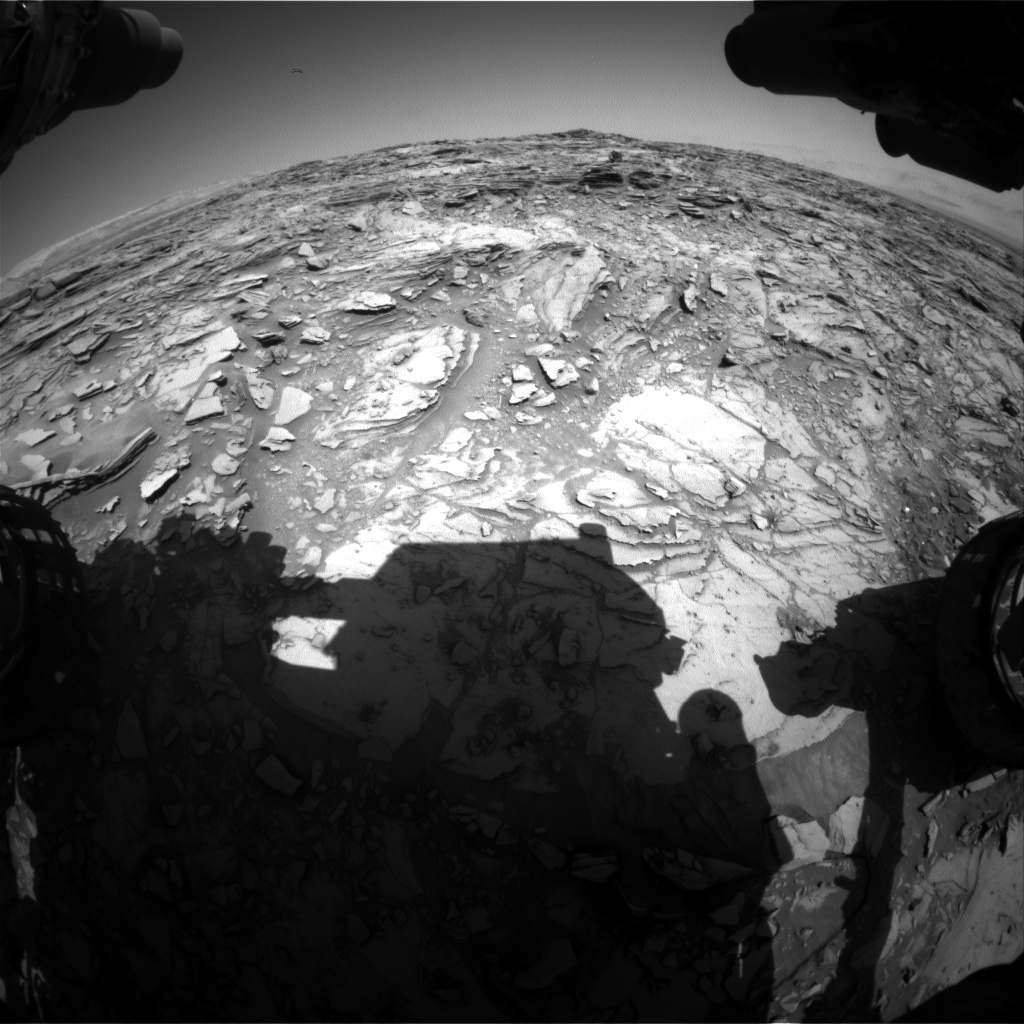 Nasa's Mars rover Curiosity acquired this image using its Front Hazard Avoidance Camera (Front Hazcam) on Sol 1147, at drive 848, site number 50