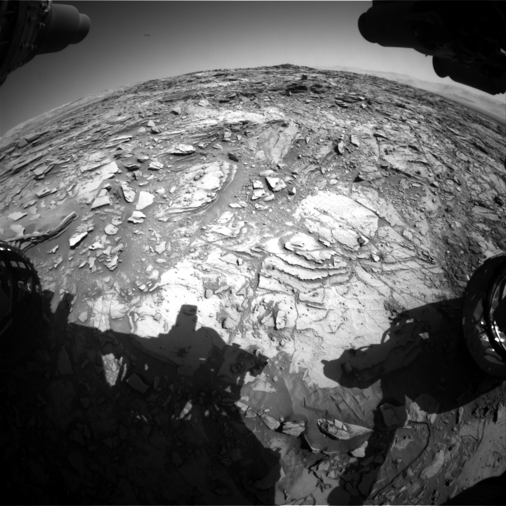 Nasa's Mars rover Curiosity acquired this image using its Front Hazard Avoidance Camera (Front Hazcam) on Sol 1148, at drive 848, site number 50