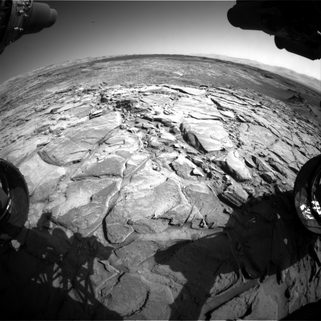 Nasa's Mars rover Curiosity acquired this image using its Front Hazard Avoidance Camera (Front Hazcam) on Sol 1149, at drive 1116, site number 50
