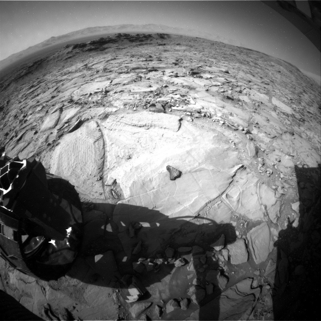 NASA's Mars rover Curiosity acquired this image using its Rear Hazard Avoidance Cameras (Rear Hazcams) on Sol 1149