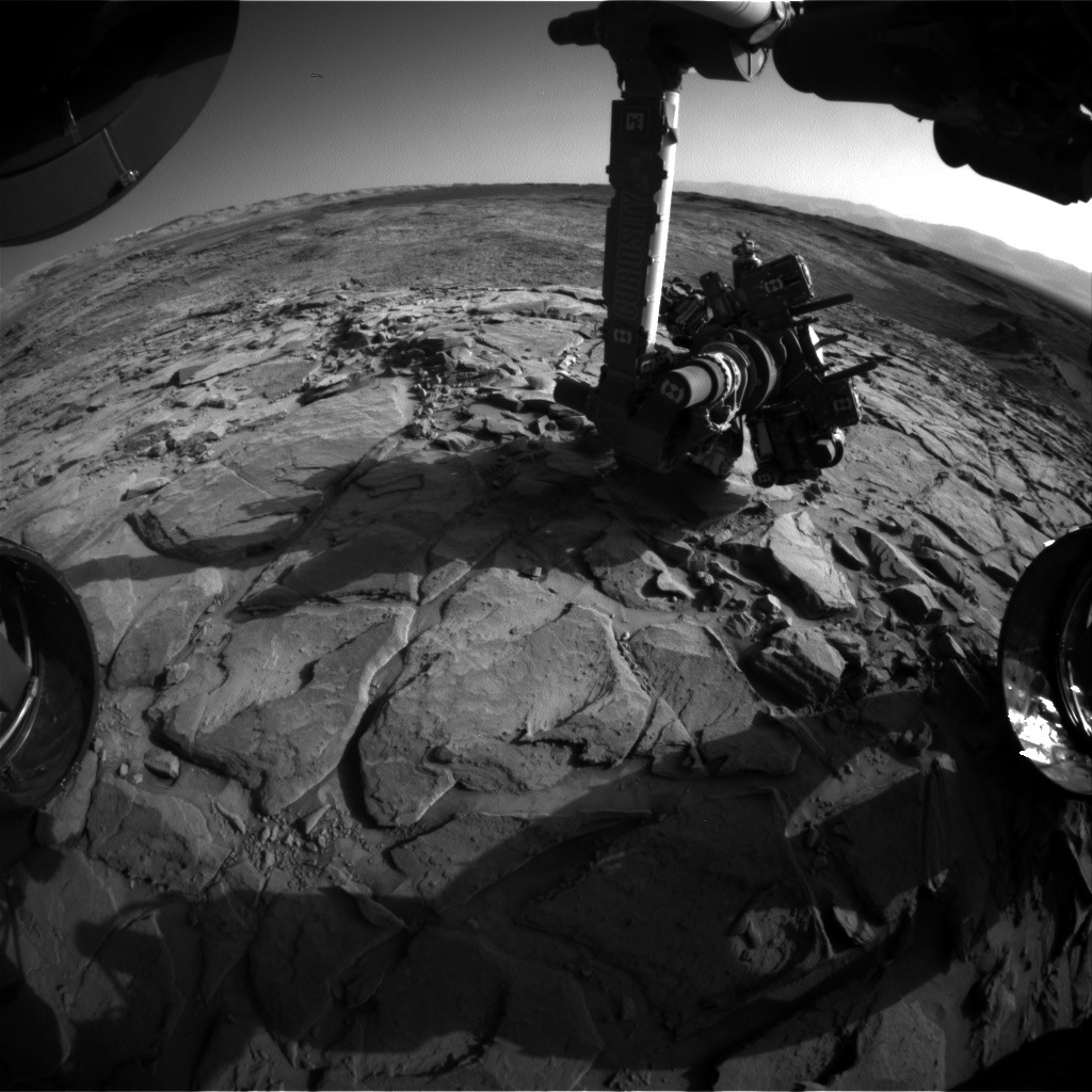 NASA's Mars rover Curiosity acquired this image using its Front Hazard Avoidance Cameras (Front Hazcams) on Sol 1150