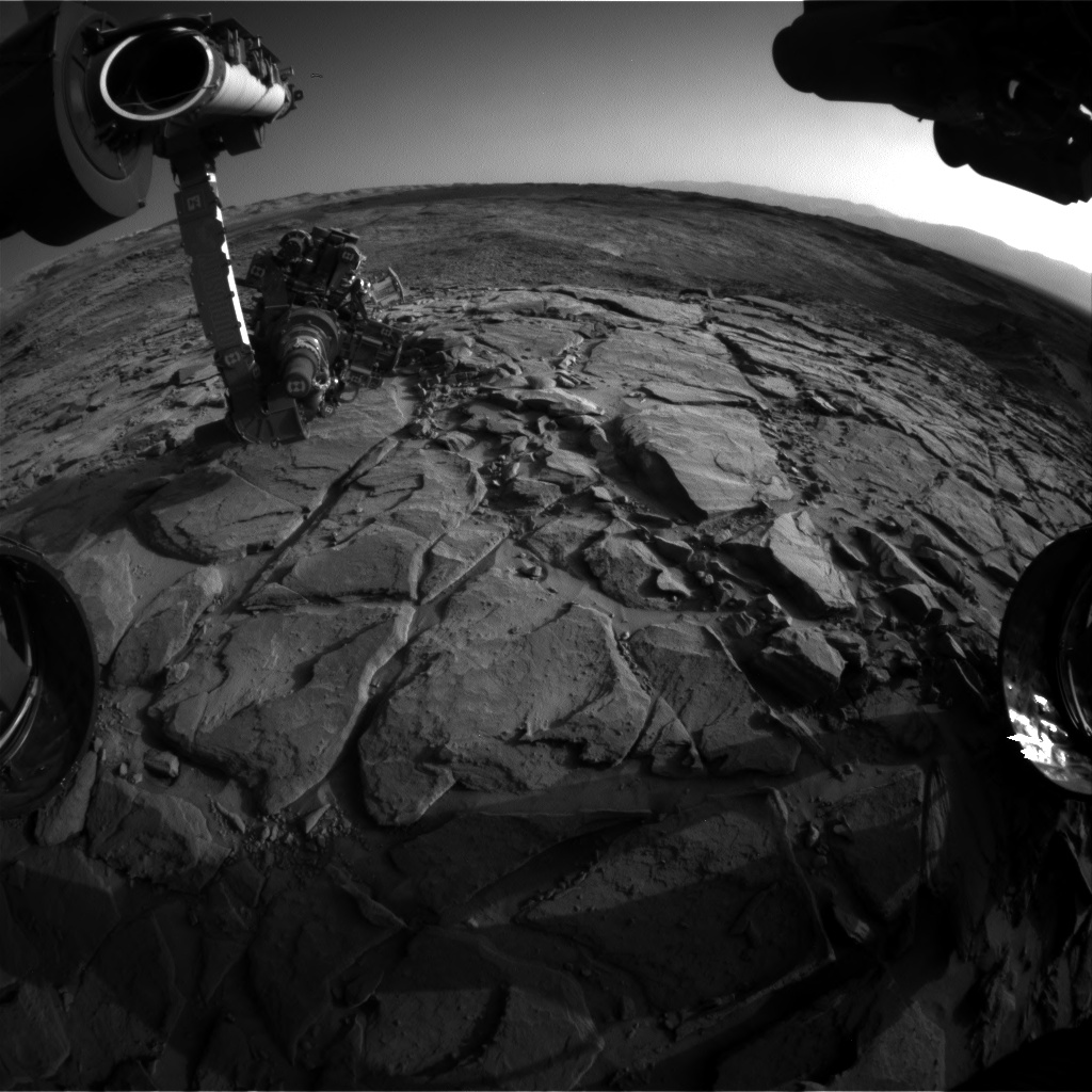 Nasa's Mars rover Curiosity acquired this image using its Front Hazard Avoidance Camera (Front Hazcam) on Sol 1150, at drive 1116, site number 50