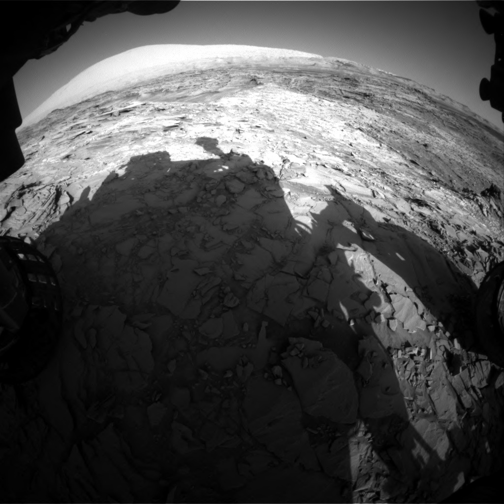 NASA's Mars rover Curiosity acquired this image using its Front Hazard Avoidance Cameras (Front Hazcams) on Sol 1151