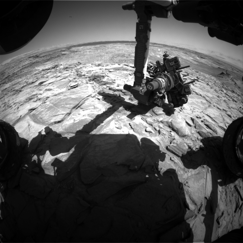 Nasa's Mars rover Curiosity acquired this image using its Front Hazard Avoidance Camera (Front Hazcam) on Sol 1151, at drive 1116, site number 50