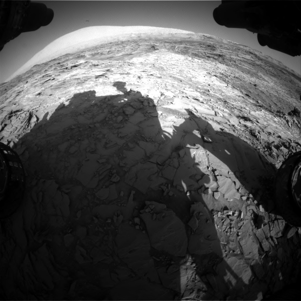 Nasa's Mars rover Curiosity acquired this image using its Front Hazard Avoidance Camera (Front Hazcam) on Sol 1151, at drive 1222, site number 50