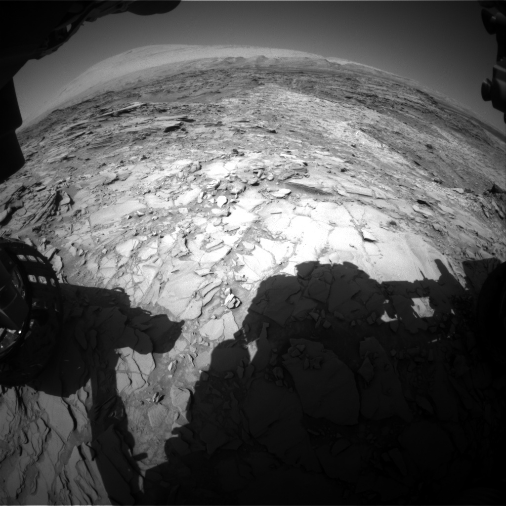 NASA's Mars rover Curiosity acquired this image using its Front Hazard Avoidance Cameras (Front Hazcams) on Sol 1152