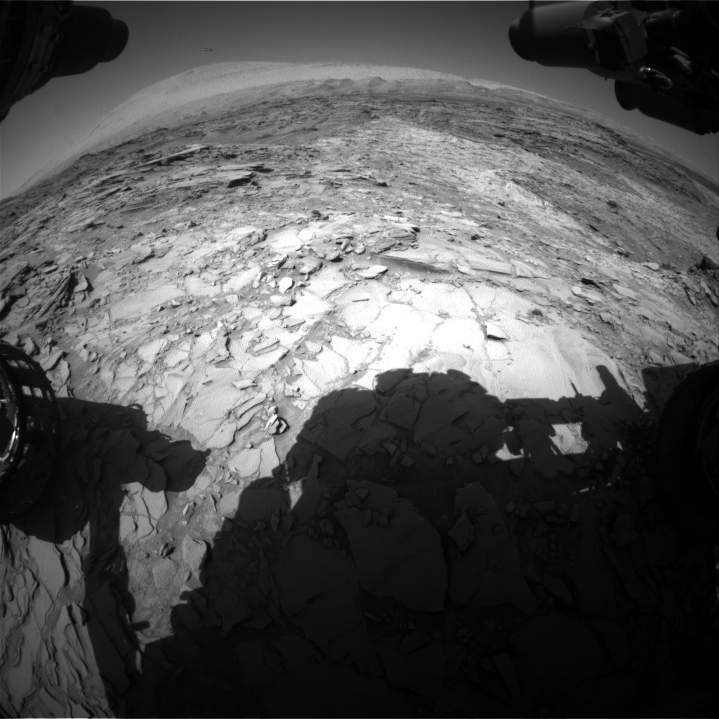 Nasa's Mars rover Curiosity acquired this image using its Front Hazard Avoidance Camera (Front Hazcam) on Sol 1152, at drive 1222, site number 50
