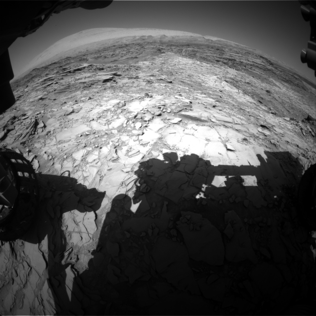 Nasa's Mars rover Curiosity acquired this image using its Front Hazard Avoidance Camera (Front Hazcam) on Sol 1153, at drive 1222, site number 50