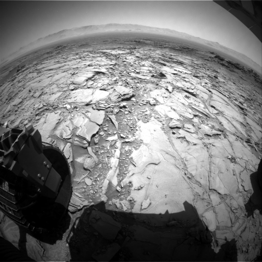 NASA's Mars rover Curiosity acquired this image using its Rear Hazard Avoidance Cameras (Rear Hazcams) on Sol 1153