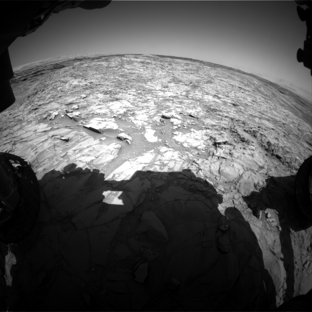 Nasa's Mars rover Curiosity acquired this image using its Front Hazard Avoidance Camera (Front Hazcam) on Sol 1155, at drive 1624, site number 50