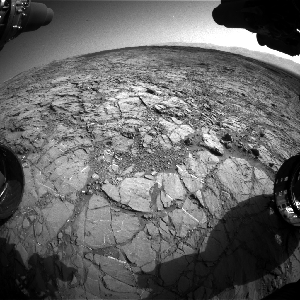 Nasa's Mars rover Curiosity acquired this image using its Front Hazard Avoidance Camera (Front Hazcam) on Sol 1155, at drive 1928, site number 50