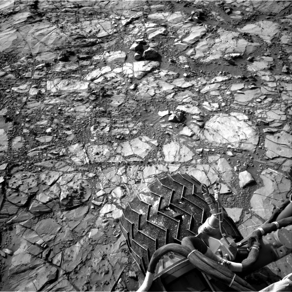 NASA's Mars rover Curiosity acquired this image using its Right Navigation Cameras (Navcams) on Sol 1155
