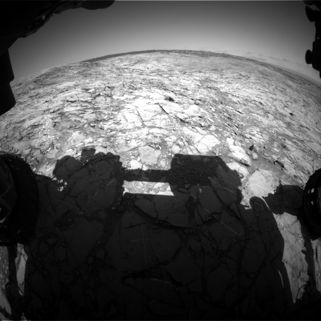 NASA's Mars rover Curiosity acquired this image using its Front Hazard Avoidance Cameras (Front Hazcams) on Sol 1156