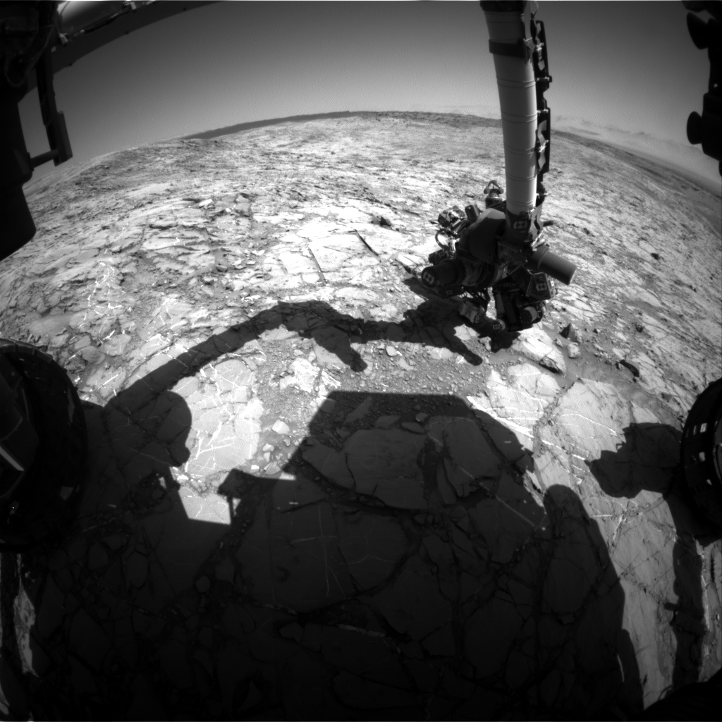 Nasa's Mars rover Curiosity acquired this image using its Front Hazard Avoidance Camera (Front Hazcam) on Sol 1158, at drive 1928, site number 50